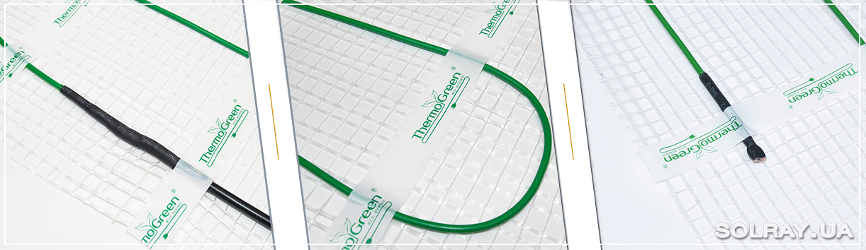 Изображение структуры нагревательного кабеля ThermoGreen