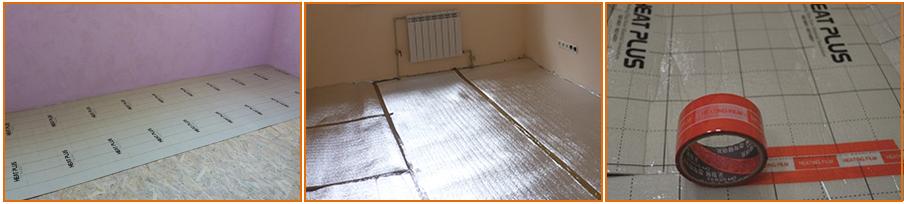 Изображение подложки под пленочный теплый пол E-pex