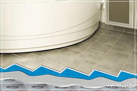 Как сделать теплый пол в ванной комнате (изображение)